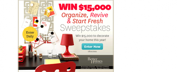 bhg.com/winreorganize – Better Homes & Gardens Sweepstakes
