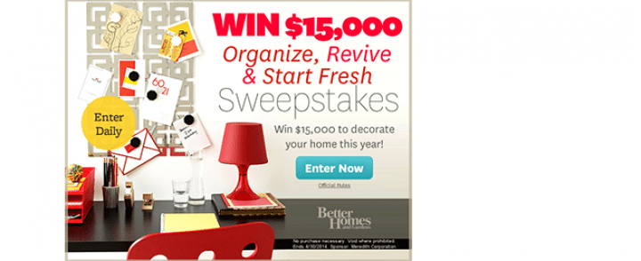 Better Homes Gardens Sweepstakes Sweepstakes Pit