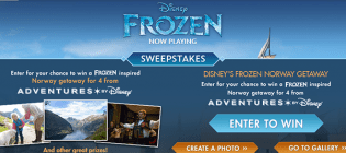 disney frozen sweepstakes