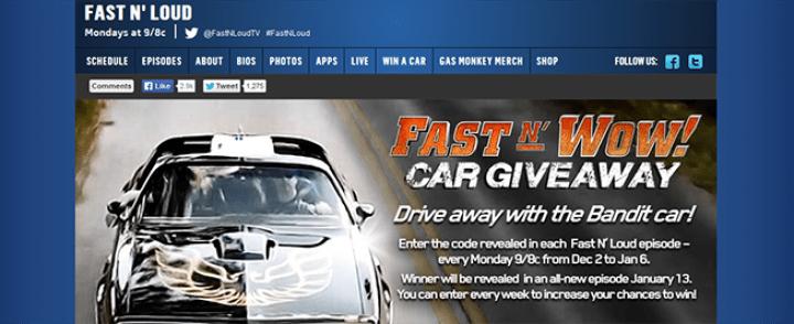 fastnwowgiveaway.com – Fast N' Wow Car Giveaway