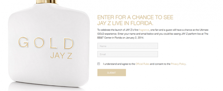 jay z sweepstakes