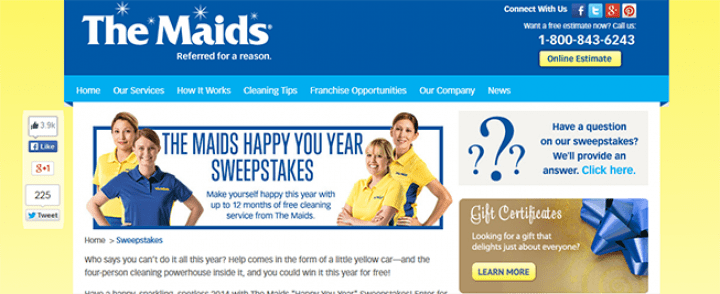 the maids sweepstakes