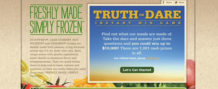 truth or dare instant win