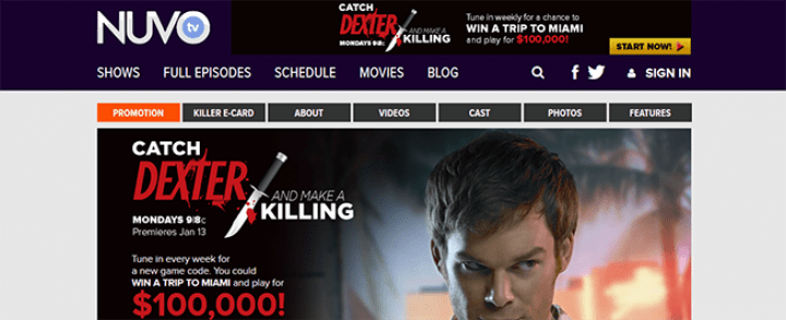 dexter sweepstakes