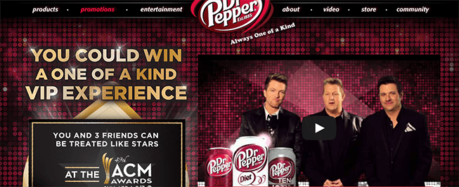 Dr Pepper Academy of Country Music Awards Sweepstakes