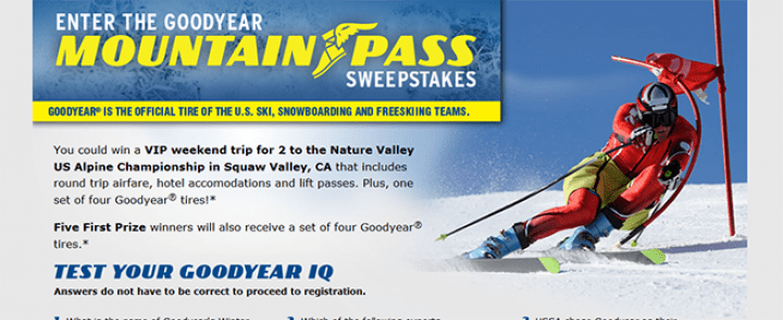 goodyear sweepstakes