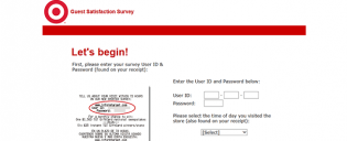 Target Guest Survey Online Instant Win and Sweepstakes