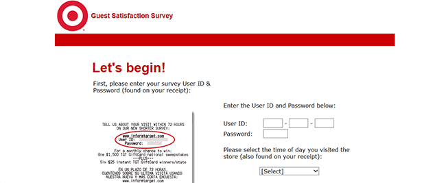 informtarget.com – Target Guest Survey Online Instant Win and Sweepstakes