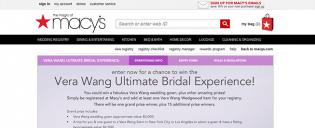 macys.com/winverawang – Vera Wang Ultimate Bridal Experience Sweepstakes