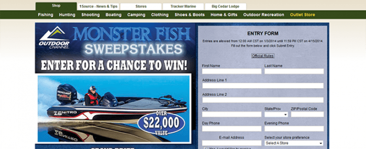 bass pro shop monster fish sweepstakes basspro com monsterfish bass pro shops monster fish 6852