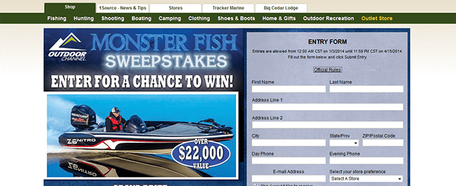 basspro.com/monsterfish – Bass Pro Shops Monster Fish Sweepstakes