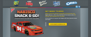 NabiscoRacing.com – Nabisco's Snack & Go! NASCAR Race Sweepstakes & Instant Win Game