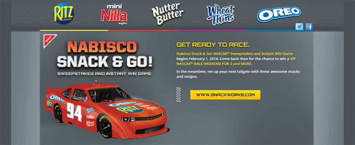 nabisco nascar sweepstakes