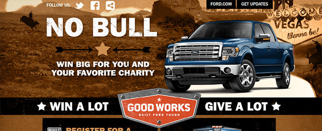 ford.com/goodworks – Built Ford Tough Good Works Sweepstakes