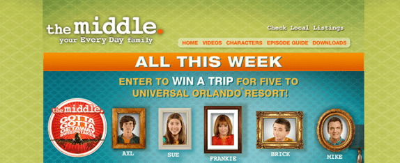 themiddleweekdays.com/sweepstakes – The Middle – The Gotta Gotta Getaway Sweepstakes