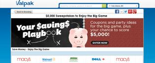 valpak.com/biggame – The Valpak $5,000 Sweepstakes