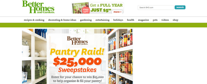 better homes sweepstakes