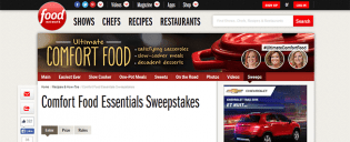 foodnetwork.com/comfortfoodsweeps – Comfort Food Essentials Sweepstakes