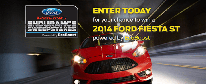 ford fiesta st sweepstakes