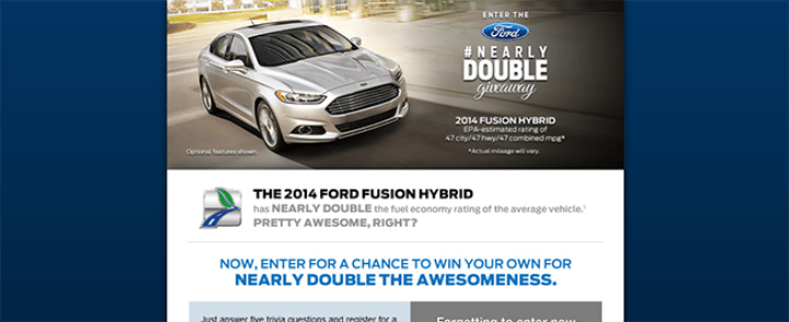 ford fusion sweepstakes