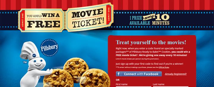 PillsburyMovieTicket.com – Pillsbury Ready to Bake! Cookies Movie Ticket Instant Win Game