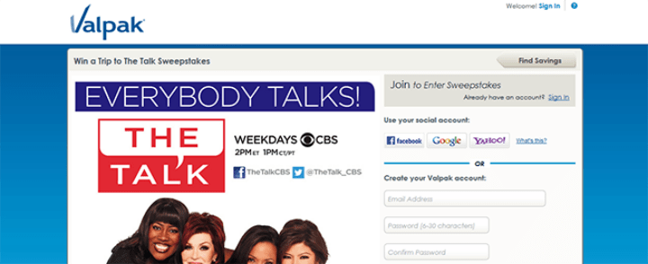 the talk sweepstakes