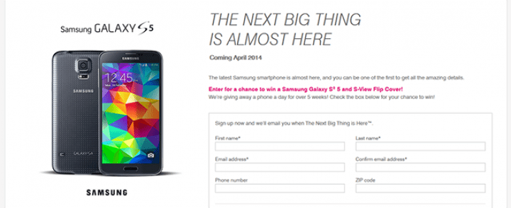 explore.t-mobile.com/samsung-galaxy-s5 – T-Mobile Samsung Galaxy S5 Sweepstakes