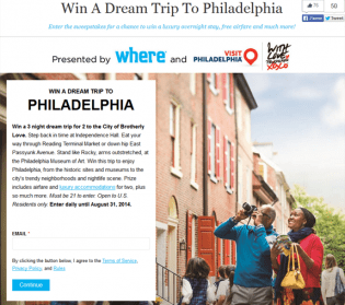wheretraveler.com – Win A Dream Trip To Philadelphia