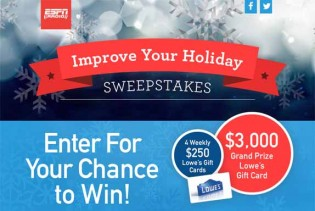 The Improve Your Holiday Sweepstakes