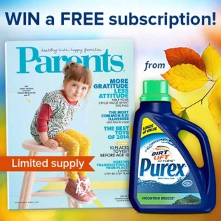 Purex and Parents Magazine – a recipe for happy families Sweepstakes