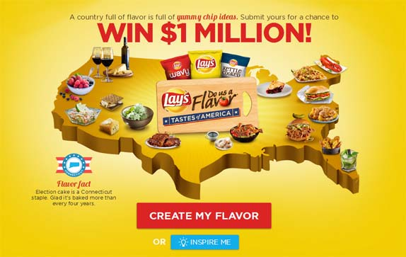 dousaflavor.com – LAY'S Do Us A Flavor Tastes of America Contest