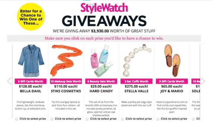 stylewatch giveaway
