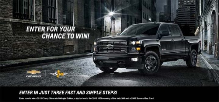 chevy sweepstakes