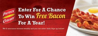 Patrick Cudahy Win Free Bacon For a Year Sweepstakes