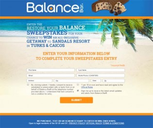 Restore your Balance Sweepstakes