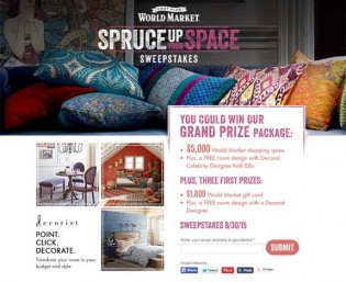 World Market's Spruce Up Your Space Sweepstakes