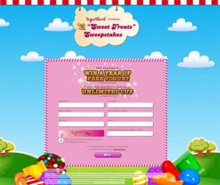 Yogurtland Candy Crush Sweet Treats Sweepstakes