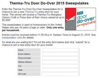 Therma-Tru Door Do-Over Sweepstakes