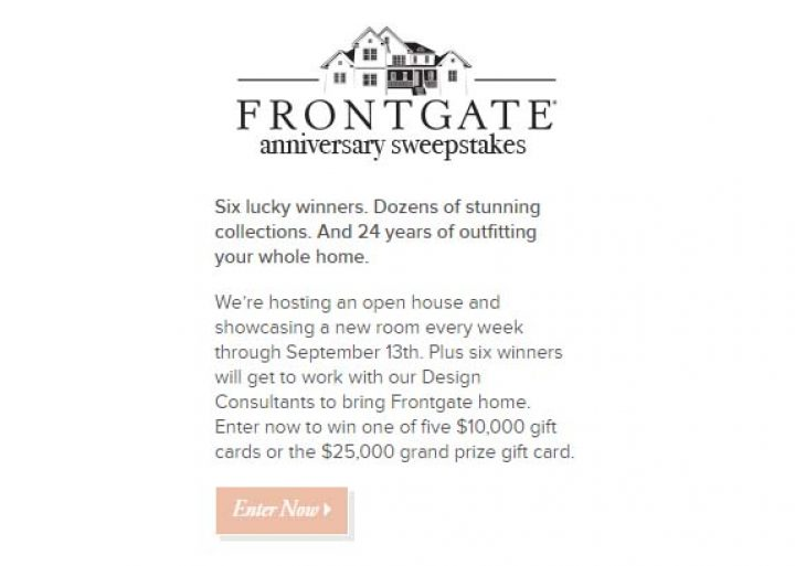 Frontgate 24th Anniversary Sweepstakes