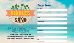Margaritaville Vacation Club Riddles in the Sand Sweepstakes