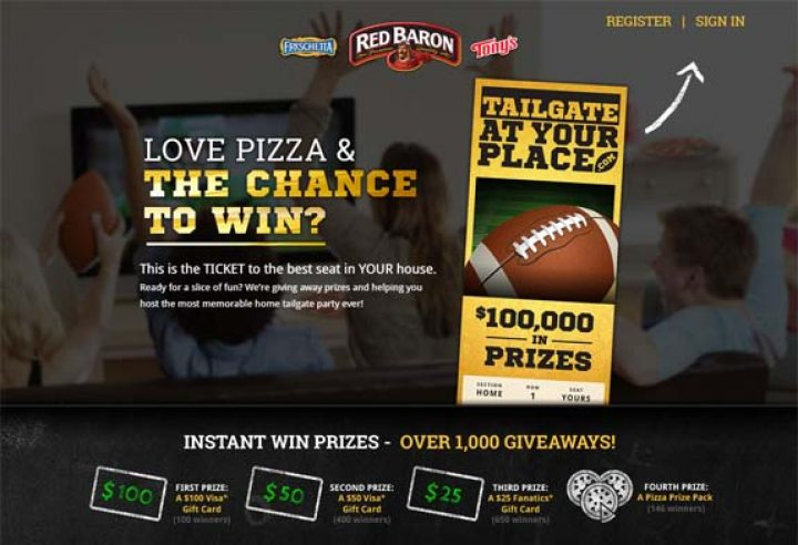 love pizza and the the to win