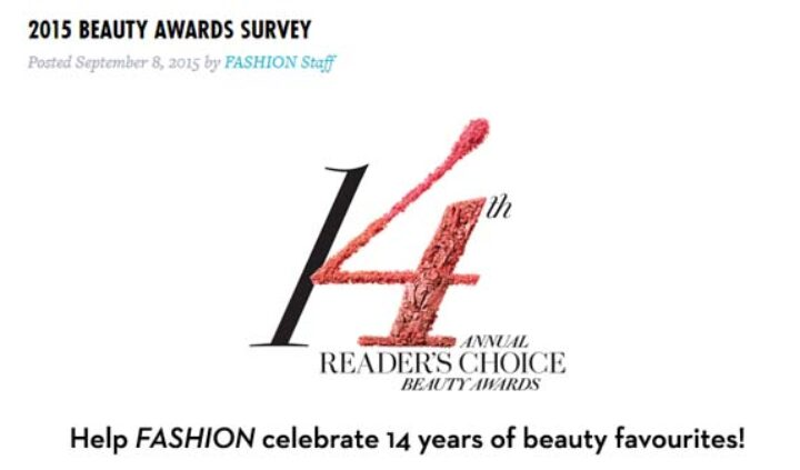 beauty awards survey