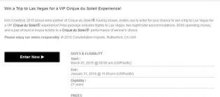 trip to las vegas cirque du soleil