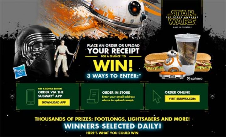 subway star wars promo