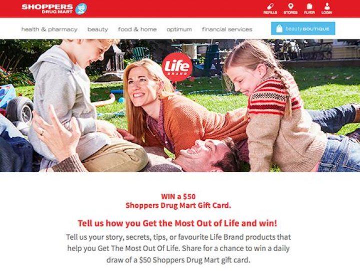 shoppers drug mart gift card