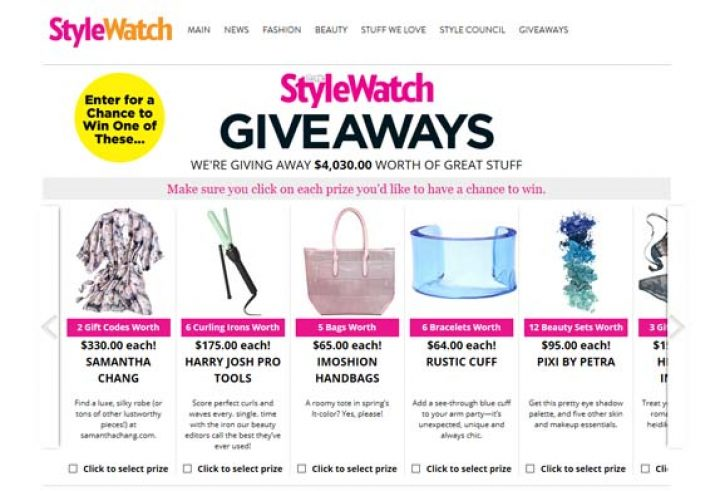 stylewatch giveaways