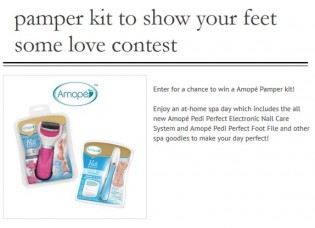 Pamper kit to show your feet some love Contest