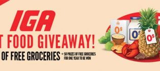 iga great food giveaway