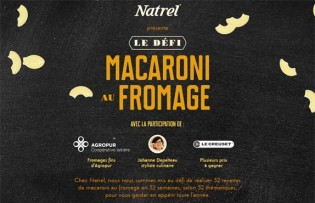 Concours Natrel Le défi macaroni au fromage