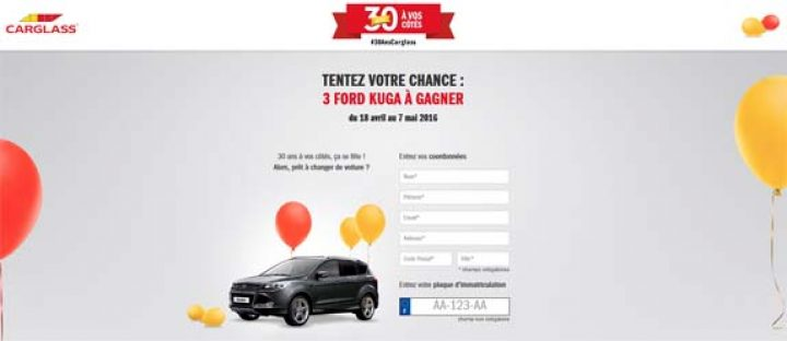 Concours 30 ans Carglass